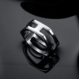 Double Hex Stainless Steel Ring