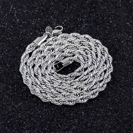 4mm Rope Chain in White Gold