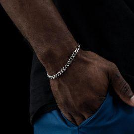 6mm Cuban Bracelet in White Gold