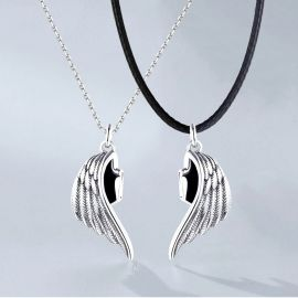 Angel and Demon Wings Magnetic Couple Pendant