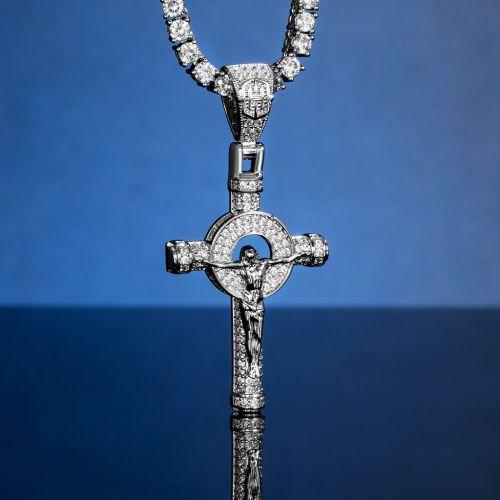 Iced Jesus Cross Pendant