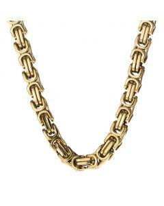 8mm Titanium Steel Byzantine Chain in Gold