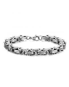 8mm Titanium Steel Byzantine Bracelet